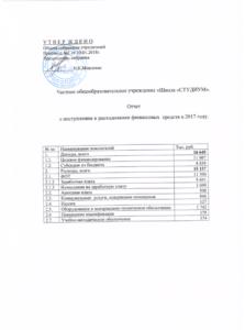 Отчет ФХД 2017 год